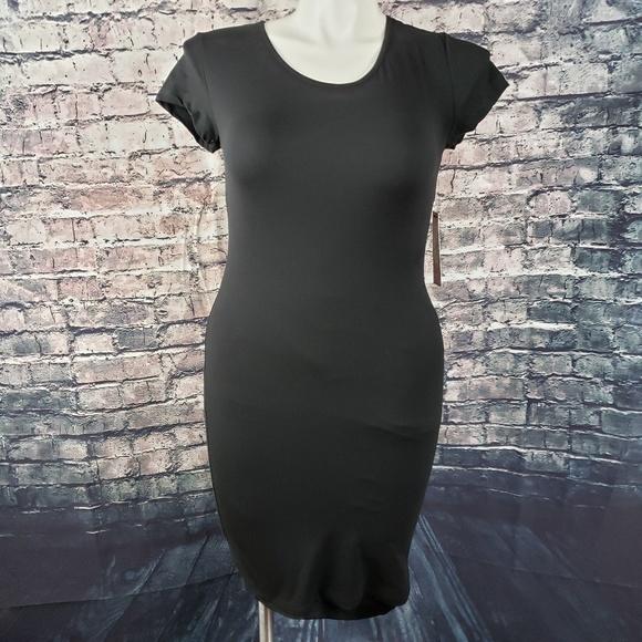 Hot Kiss Dresses & Skirts - Hot Kiss Stretchy Midi Dress with Mesh Back Size L
